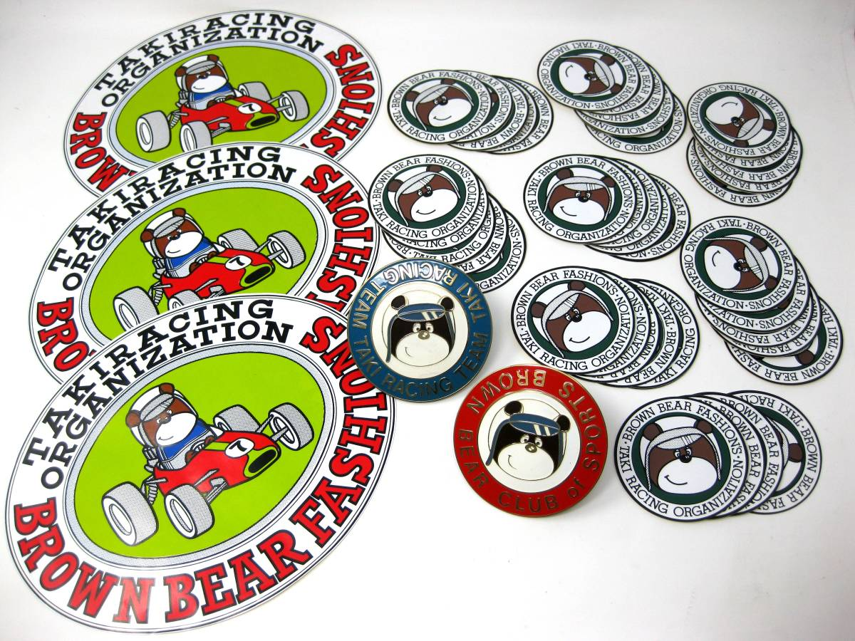 TAKI RACING TEAM BROWN BEAR CLUB of SPORTS タキ レーシング カーバッジ エンブレム ステッカー 超激レア レース アイテム サーキット