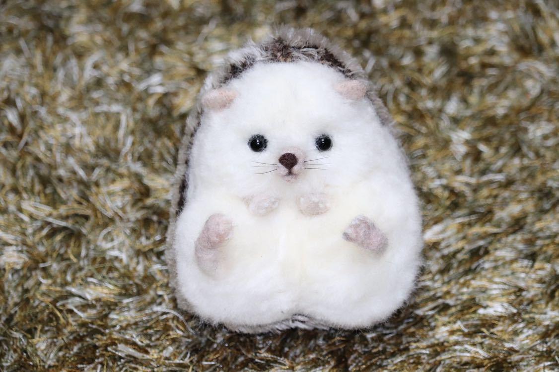 おすわりハリネズミさん03 ハンドメイド羊毛フェルト_画像7