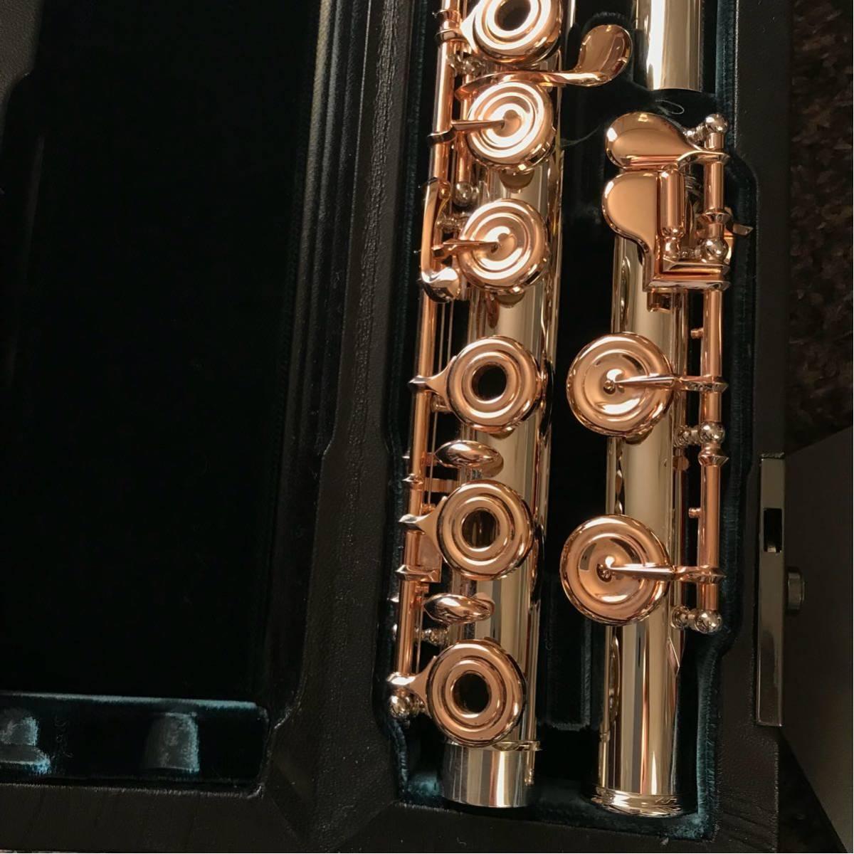 アルタスフルートGPTハンドメイド総銀製プラチナコーティングモデル新品同様美品安心のデニス・ブリアコフ氏選定品_画像3