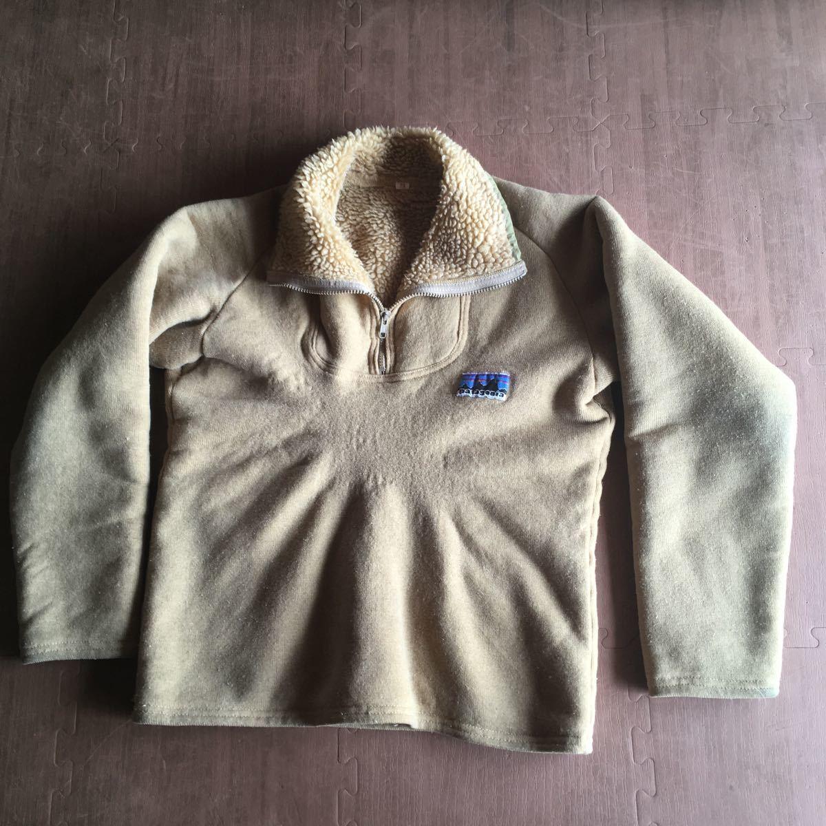 70s patagonia 白タグ パイル プルオーバー ジャケット ビンテージ オリジナル デカタグ vintage YKK / レトロ mars シュイナード サーフ_画像2