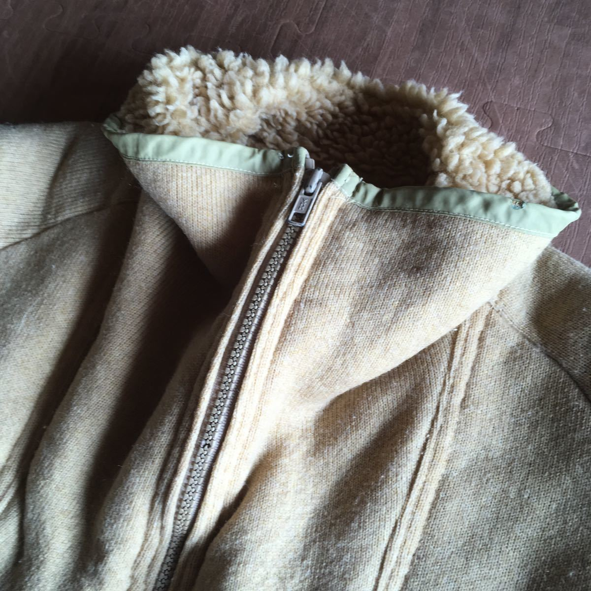 70s patagonia 白タグ パイル プルオーバー ジャケット ビンテージ オリジナル デカタグ vintage YKK / レトロ mars シュイナード サーフ_画像8