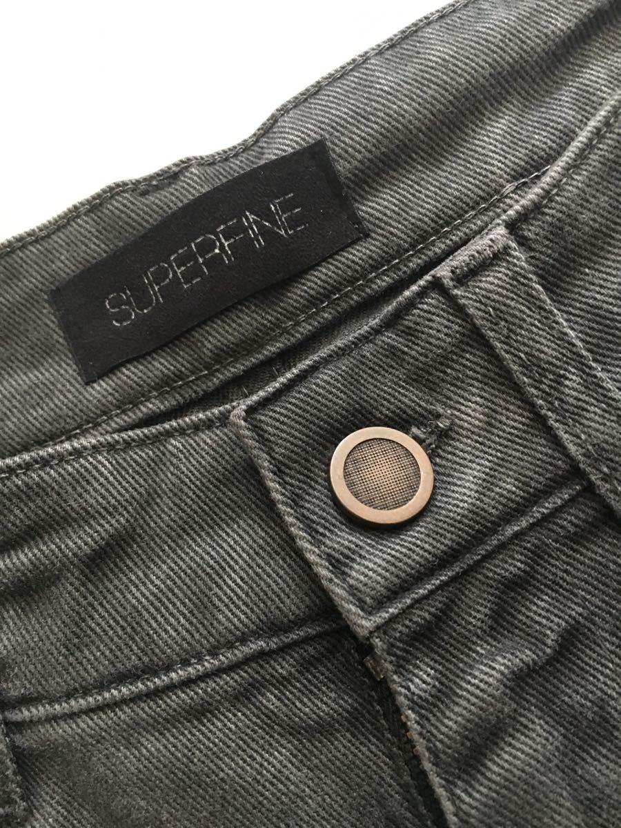 SUPERFINE STRIPE SLY W29 グレー デニム パンツ