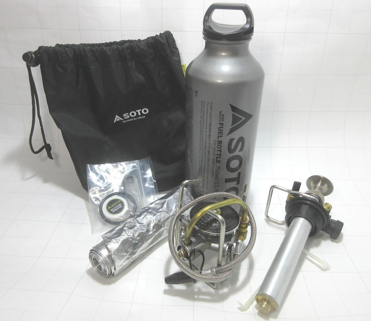 SOTO MUKA ストーブ SOD-371ガソリンストーブ 700mlボトル付き