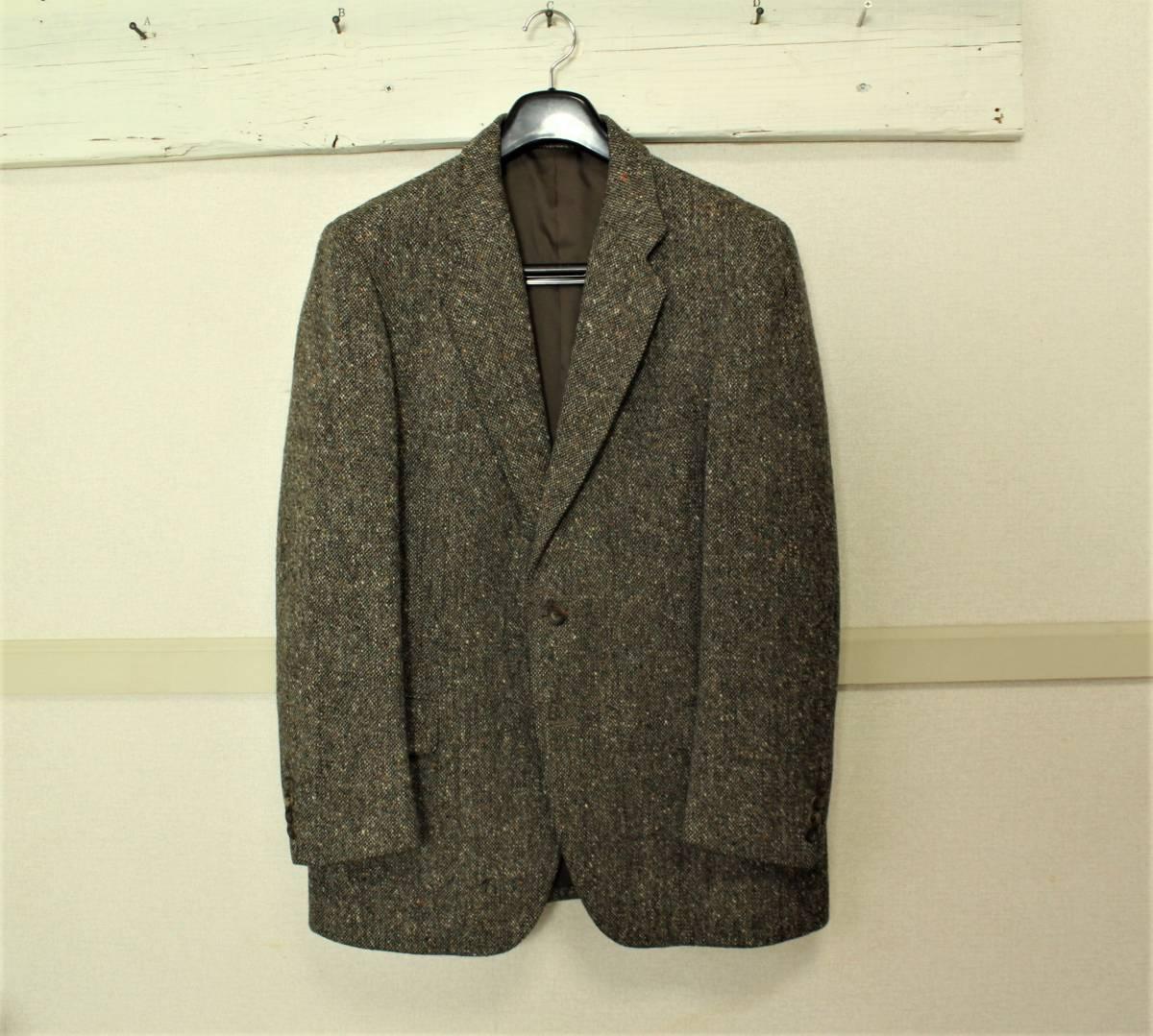 バーバリー BURBERRY 最高級ツイードジャケット ブレザー AB6 二つ釦 極美品 冬物 メンズ 紳士服 48相当【送料無料 送料込み 匿名配送】_画像2