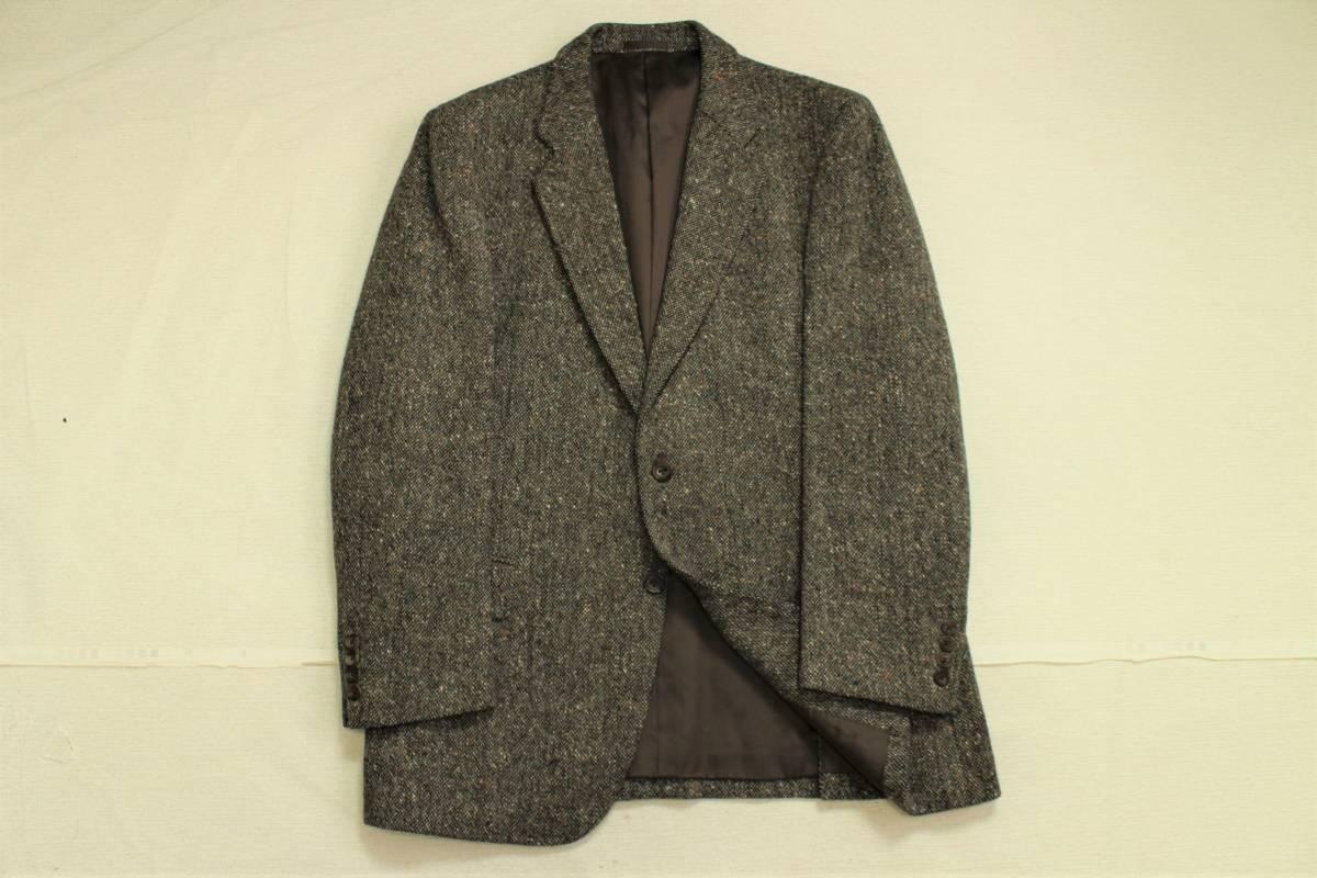 バーバリー BURBERRY 最高級ツイードジャケット ブレザー AB6 二つ釦 極美品 冬物 メンズ 紳士服 48相当【送料無料 送料込み 匿名配送】