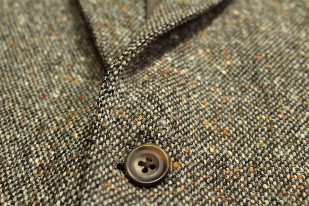 バーバリー BURBERRY 最高級ツイードジャケット ブレザー AB6 二つ釦 極美品 冬物 メンズ 紳士服 48相当【送料無料 送料込み 匿名配送】_画像5