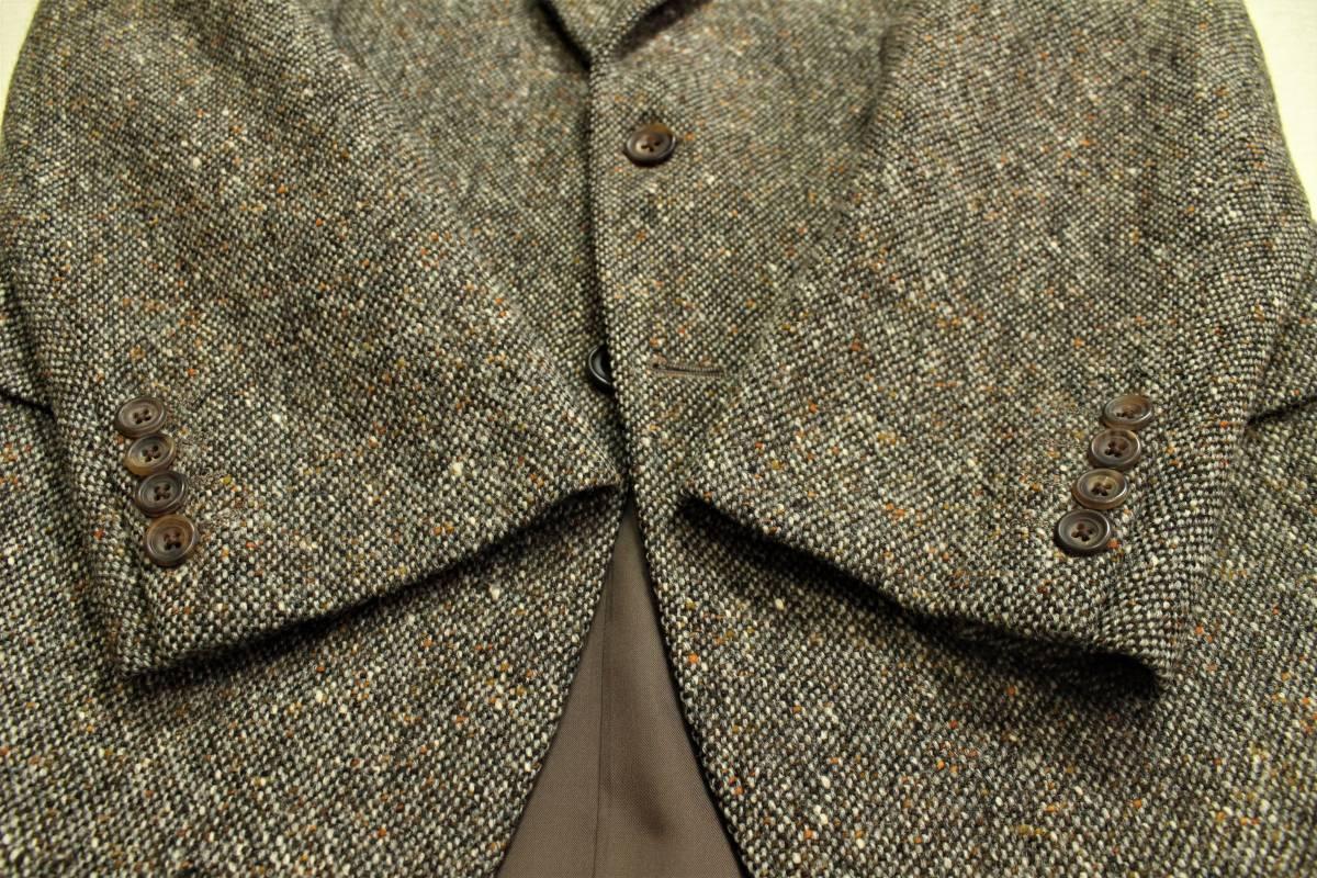 バーバリー BURBERRY 最高級ツイードジャケット ブレザー AB6 二つ釦 極美品 冬物 メンズ 紳士服 48相当【送料無料 送料込み 匿名配送】_画像4