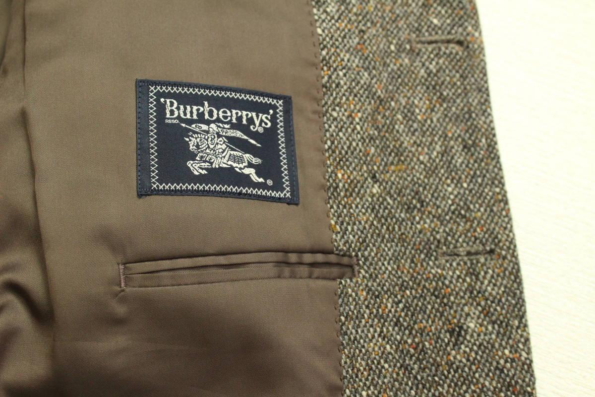 バーバリー BURBERRY 最高級ツイードジャケット ブレザー AB6 二つ釦 極美品 冬物 メンズ 紳士服 48相当【送料無料 送料込み 匿名配送】_画像7
