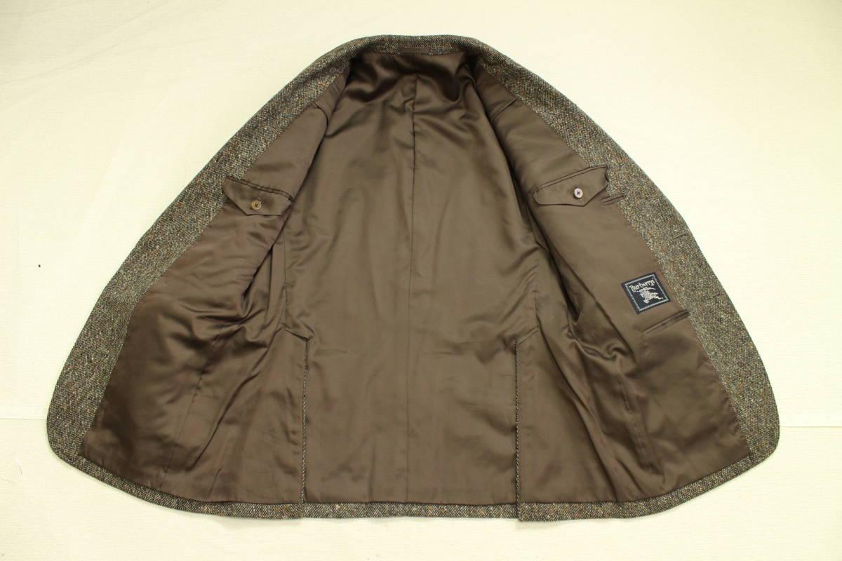 バーバリー BURBERRY 最高級ツイードジャケット ブレザー AB6 二つ釦 極美品 冬物 メンズ 紳士服 48相当【送料無料 送料込み 匿名配送】_画像6