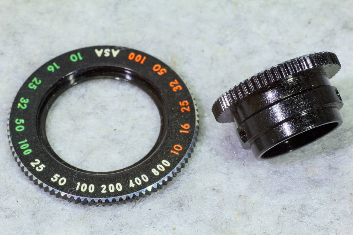 ☆ASAHI PENTAX アサヒペンタックス S2 シャッターダイヤル(1/500 まで)と感度表示環のセット です!_画像3