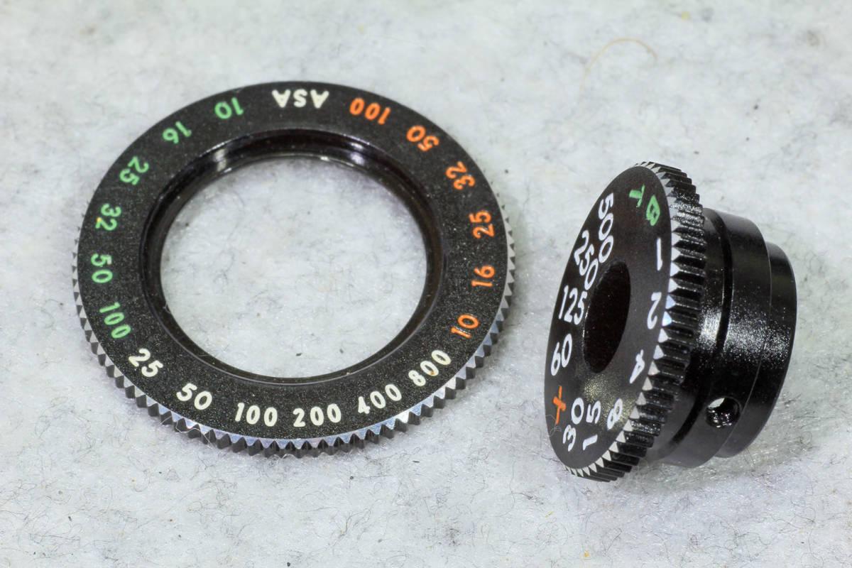 ☆ASAHI PENTAX アサヒペンタックス S2 シャッターダイヤル(1/500 まで)と感度表示環のセット です!_画像4