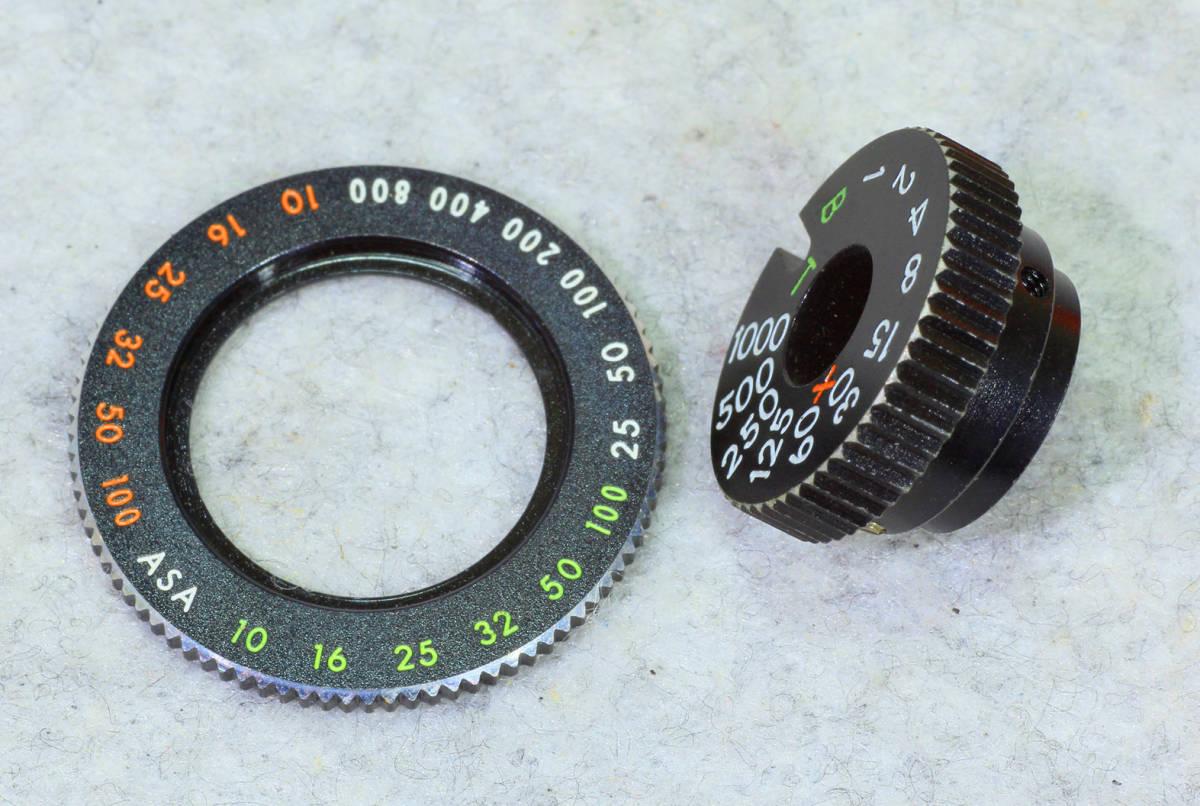 ☆ASAHI PENTAX アサヒペンタックス S2 シャッターダイヤル1/1000までと感度 表示環のセット!_画像3