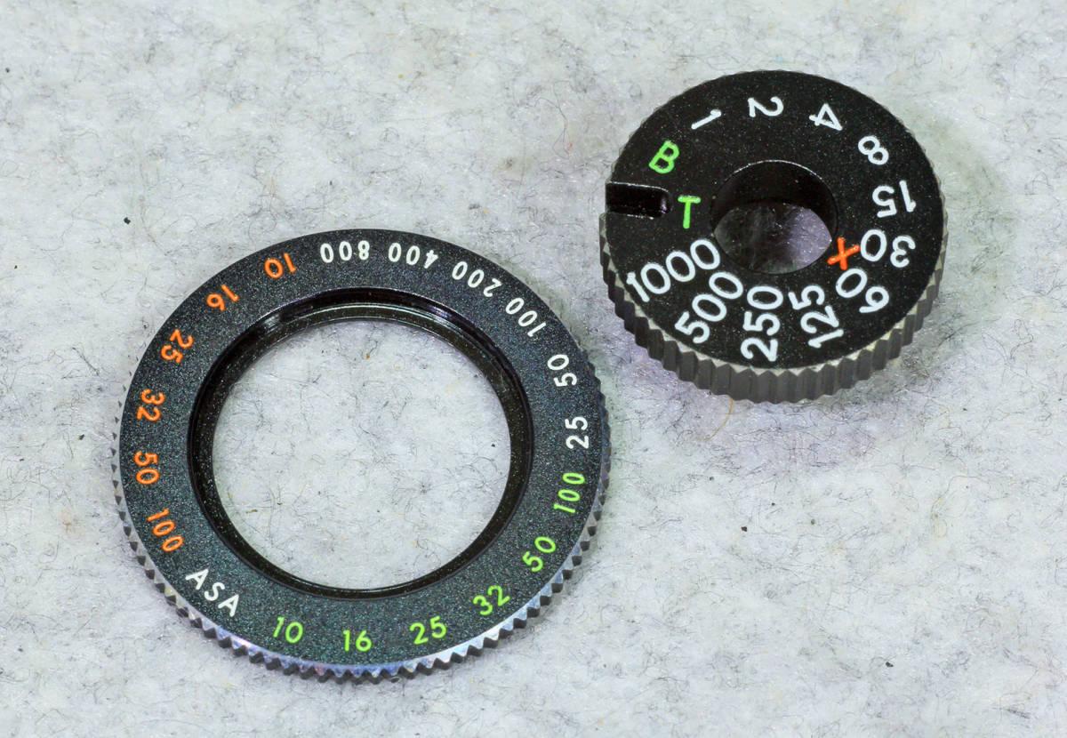 ☆ASAHI PENTAX アサヒペンタックス S2 シャッターダイヤル1/1000までと感度 表示環のセット!_画像1