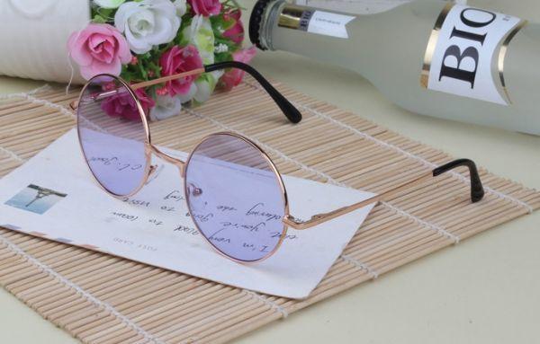 丸メガネ サングラス ヴィンテージ 丸眼鏡 丸サングラス ブルーパープル