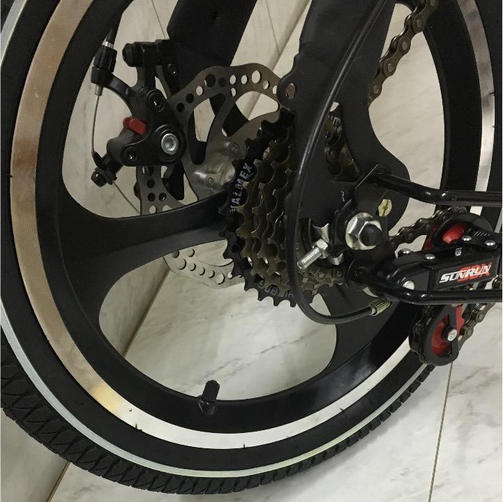 完全売り切り 高級仕様 折りたたみ 自転車 前後ディスクブレーキ ギア付き ファットバイク 電動 アシスト 自転車 マウンテンバイク 通勤_画像6