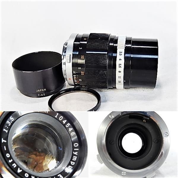★美品 オリンパス ペンF 1:1.8 38mm + 100㎜望遠レンズ モルト交換・点検清掃・作動確認済_画像7