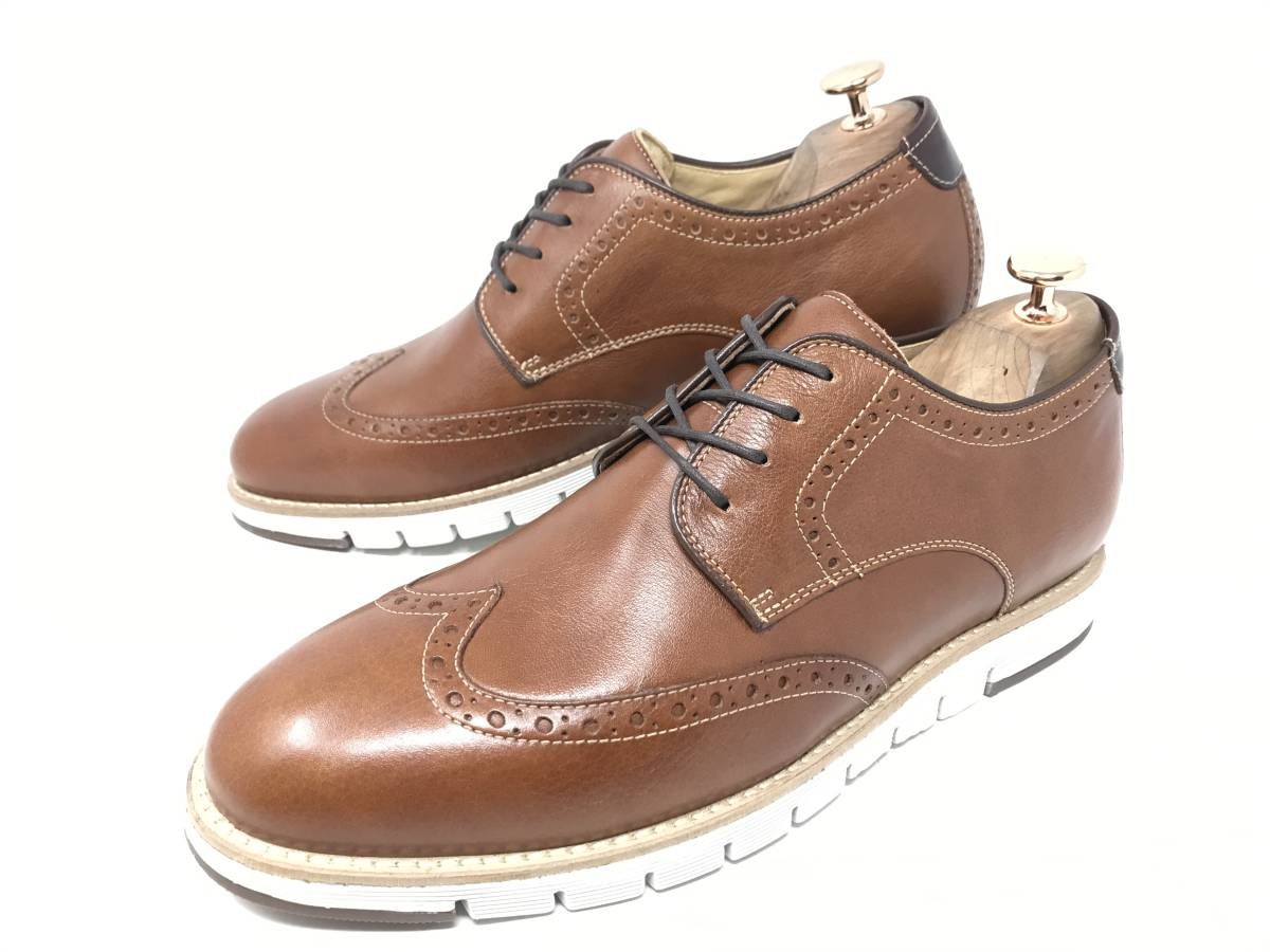 新品 即決 ジョンストン&マーフィー J&M 大塚製靴 ブーツ メンズ US8 / 26cm 茶 ブラウン 羊革 本皮 本革 革靴 レザー_画像6