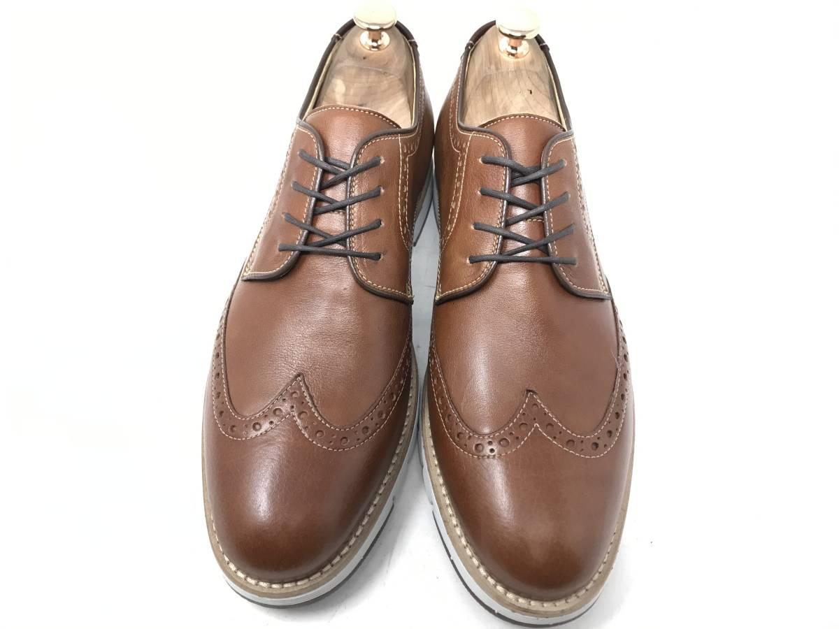 新品 即決 ジョンストン&マーフィー J&M 大塚製靴 ブーツ メンズ US8 / 26cm 茶 ブラウン 羊革 本皮 本革 革靴 レザー_画像2