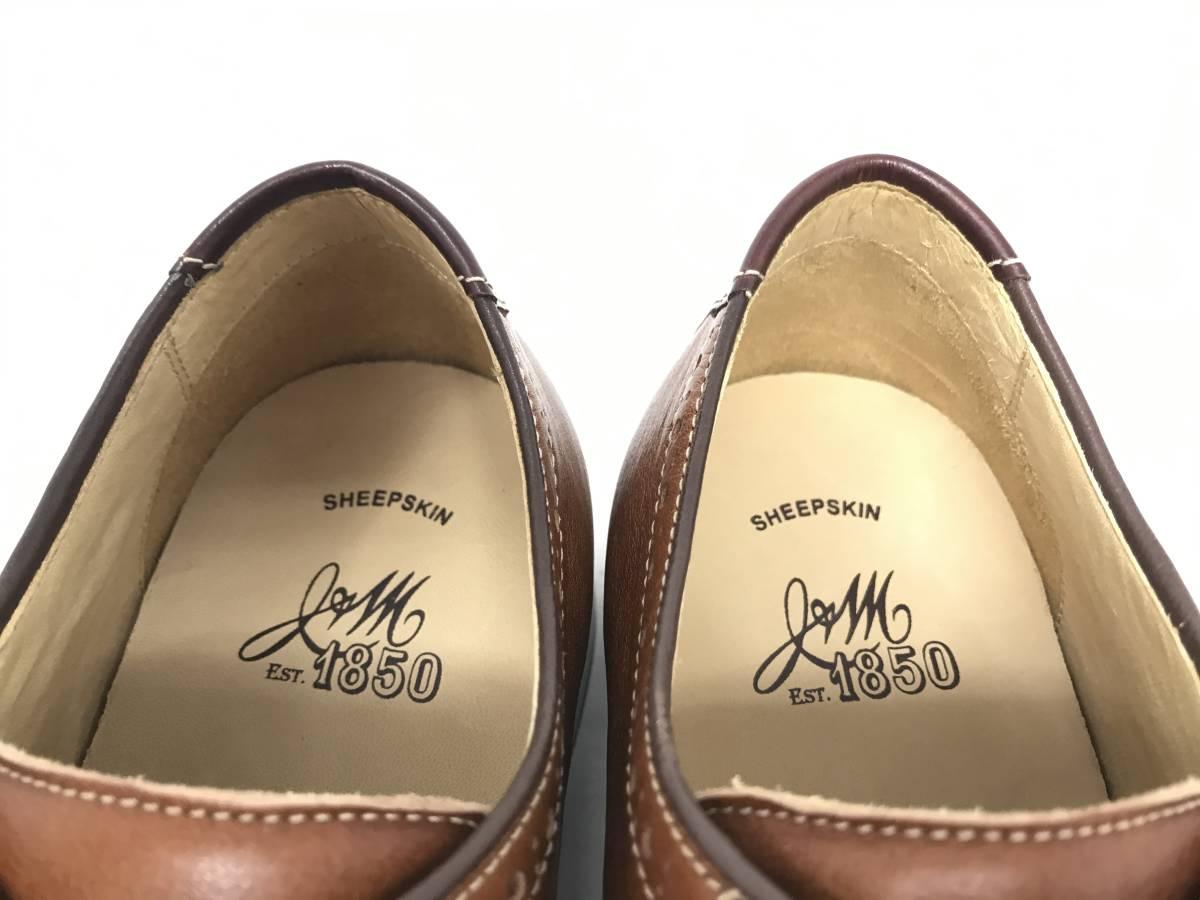新品 即決 ジョンストン&マーフィー J&M 大塚製靴 ブーツ メンズ US8 / 26cm 茶 ブラウン 羊革 本皮 本革 革靴 レザー_画像7