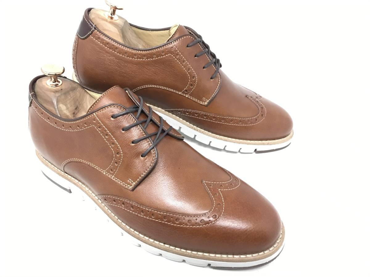 新品 即決 ジョンストン&マーフィー J&M 大塚製靴 ブーツ メンズ US8 / 26cm 茶 ブラウン 羊革 本皮 本革 革靴 レザー_画像4