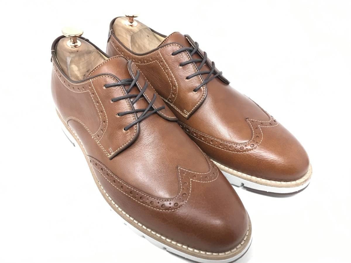 新品 即決 ジョンストン&マーフィー J&M 大塚製靴 ブーツ メンズ US8 / 26cm 茶 ブラウン 羊革 本皮 本革 革靴 レザー_画像3