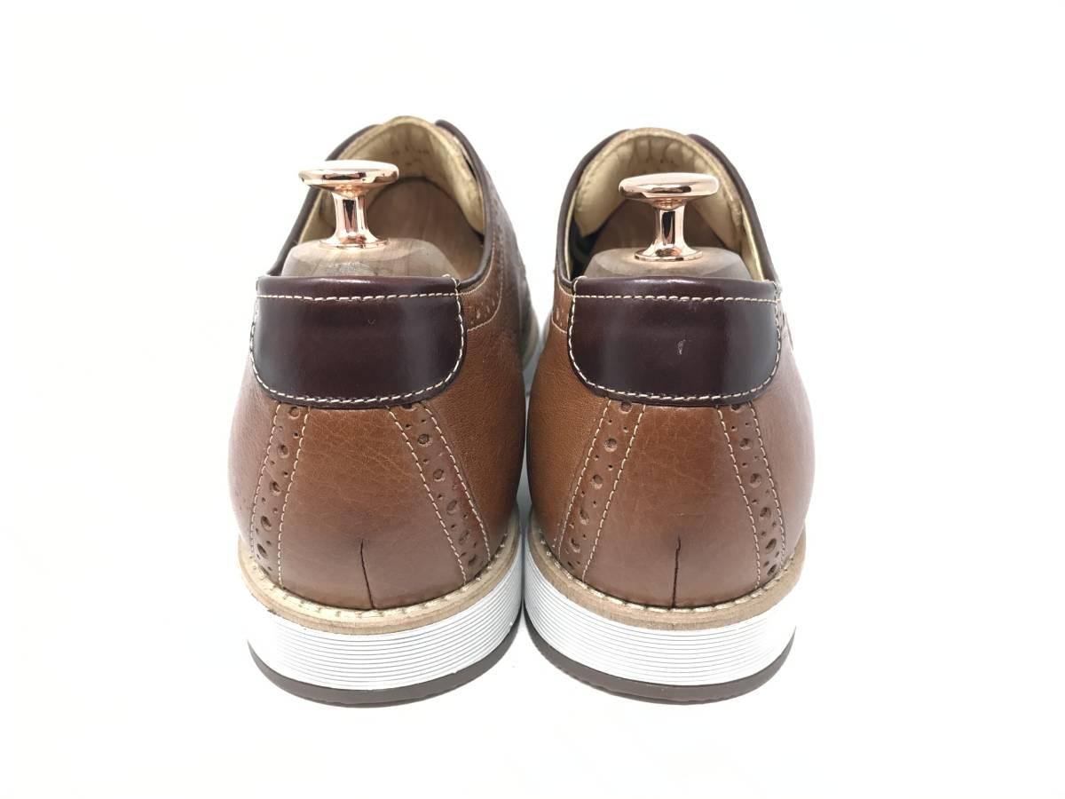 新品 即決 ジョンストン&マーフィー J&M 大塚製靴 ブーツ メンズ US8 / 26cm 茶 ブラウン 羊革 本皮 本革 革靴 レザー_画像5
