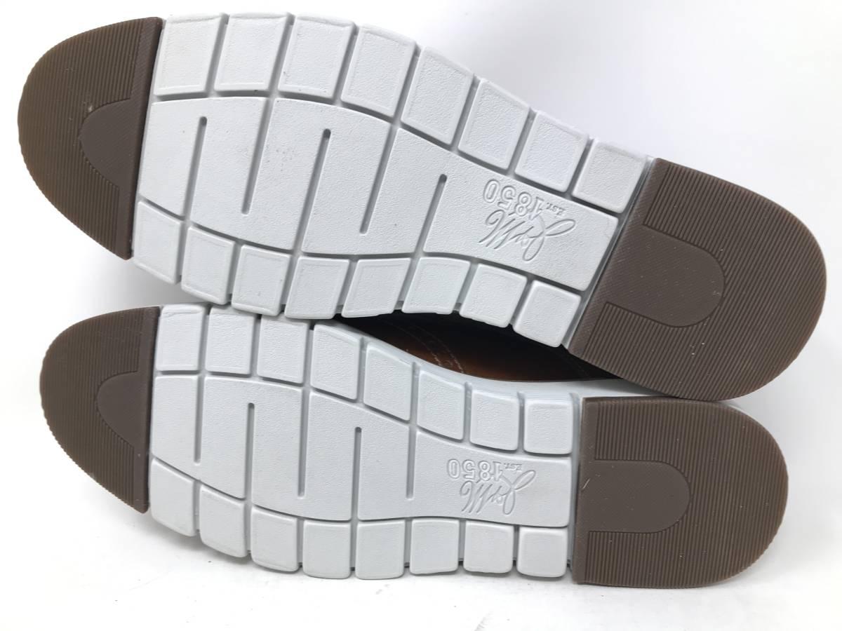 新品 即決 ジョンストン&マーフィー J&M 大塚製靴 ブーツ メンズ US8 / 26cm 茶 ブラウン 羊革 本皮 本革 革靴 レザー_画像9