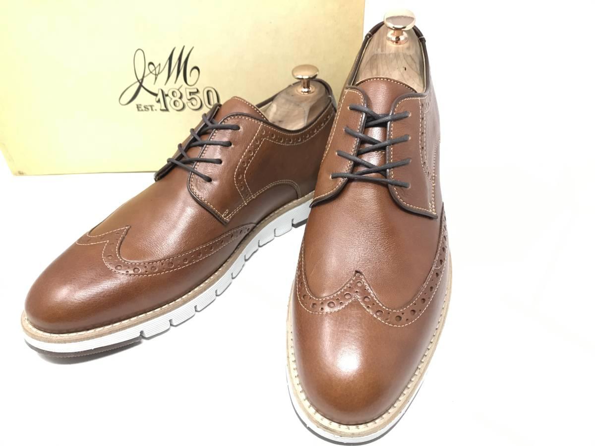 新品 即決 ジョンストン&マーフィー J&M 大塚製靴 ブーツ メンズ US8 / 26cm 茶 ブラウン 羊革 本皮 本革 革靴 レザー
