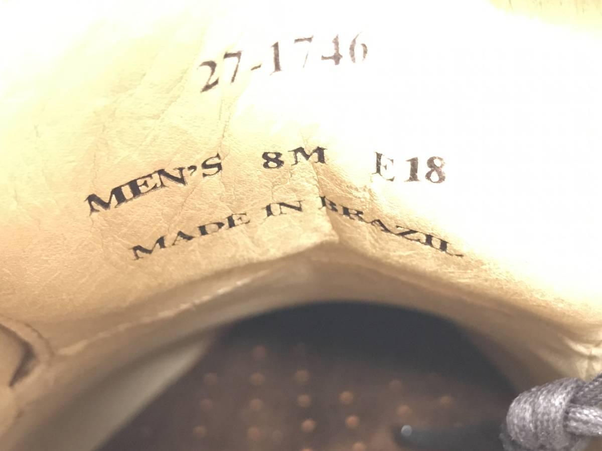 新品 即決 ジョンストン&マーフィー J&M 大塚製靴 ブーツ メンズ US8 / 26cm 茶 ブラウン 羊革 本皮 本革 革靴 レザー_画像8