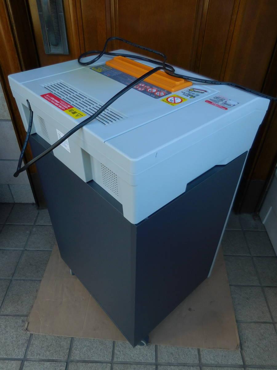 【東京・神奈川一部送料無料】アイリス 業務用 オフィスシュレッダー OF20C 正常作動品 A4・15枚細断・クロスカット・CD/DVD・カード対応_画像8