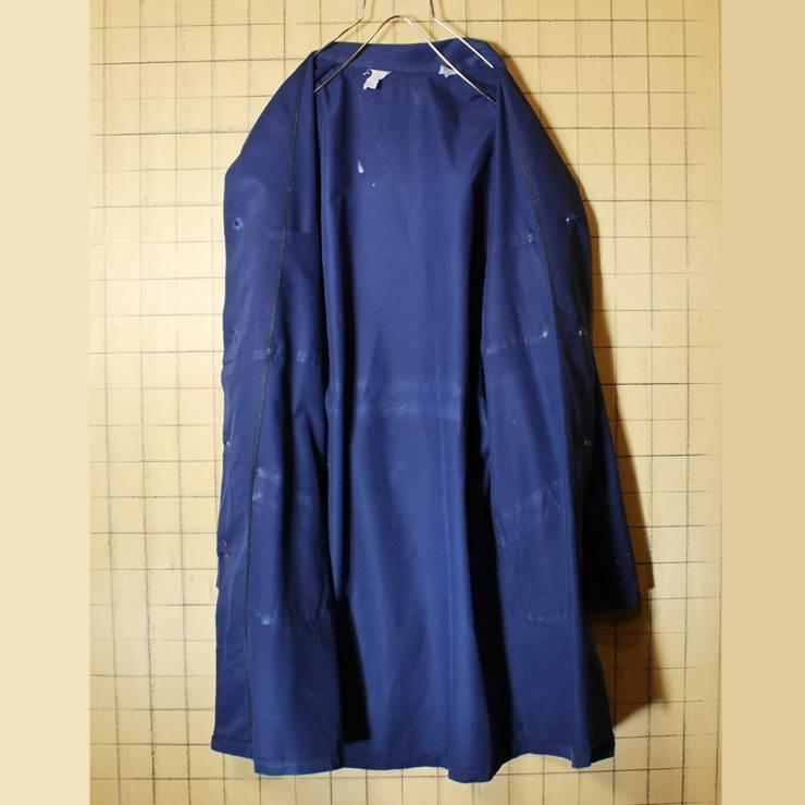 ドイツ 60s-70s ワーク コート ヨーロッパ古着 ネイビー メンズSM相当 ショップ ジャケット ペンキ跡 021319ss12_画像6