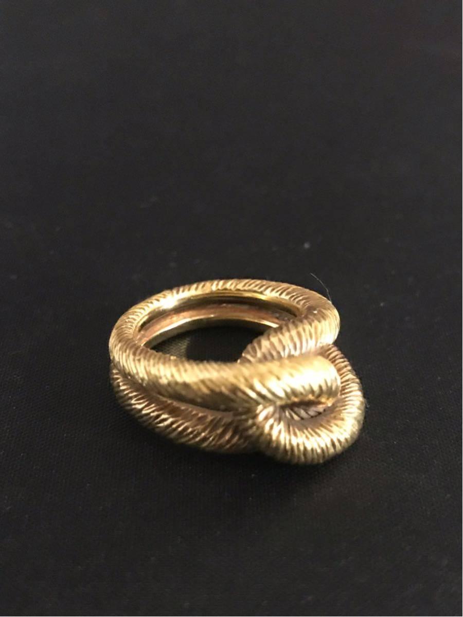 希少 美品 Cartier カルティエ リング K18YG イエローゴールド 指輪 レディース ヴィンテージ オールド アンティーク コレクション 7号_画像2