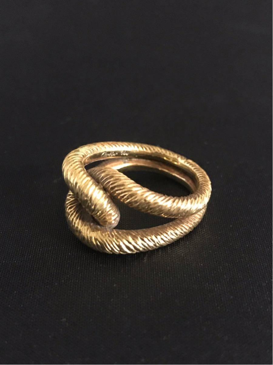 希少 美品 Cartier カルティエ リング K18YG イエローゴールド 指輪 レディース ヴィンテージ オールド アンティーク コレクション 7号_画像1