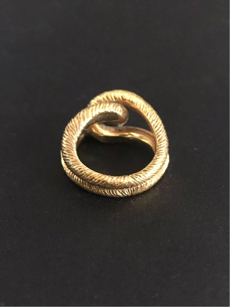 希少 美品 Cartier カルティエ リング K18YG イエローゴールド 指輪 レディース ヴィンテージ オールド アンティーク コレクション 7号_画像4