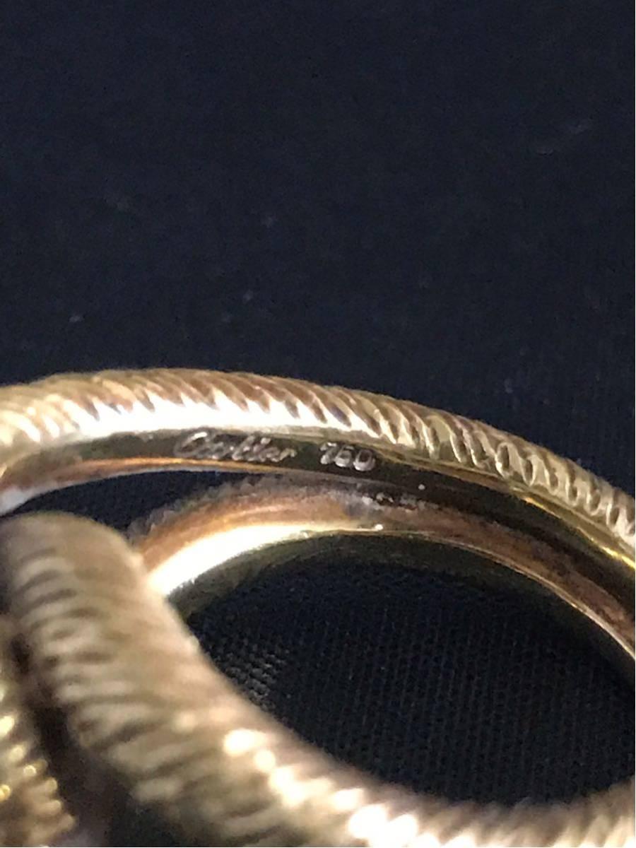 希少 美品 Cartier カルティエ リング K18YG イエローゴールド 指輪 レディース ヴィンテージ オールド アンティーク コレクション 7号_画像6