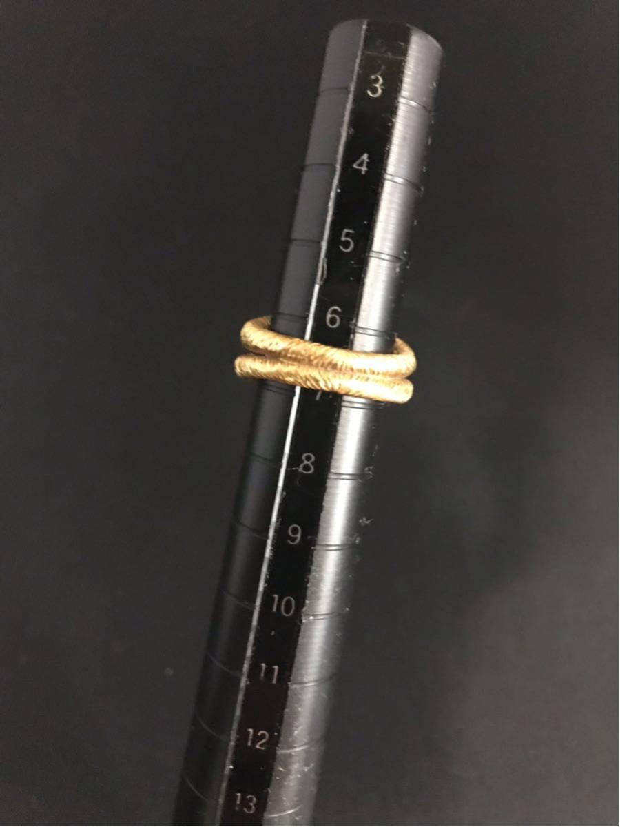 希少 美品 Cartier カルティエ リング K18YG イエローゴールド 指輪 レディース ヴィンテージ オールド アンティーク コレクション 7号_画像7