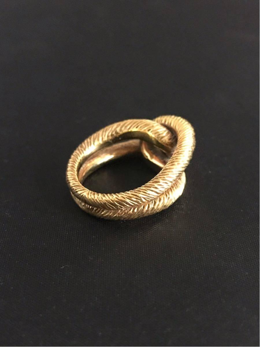 希少 美品 Cartier カルティエ リング K18YG イエローゴールド 指輪 レディース ヴィンテージ オールド アンティーク コレクション 7号_画像3