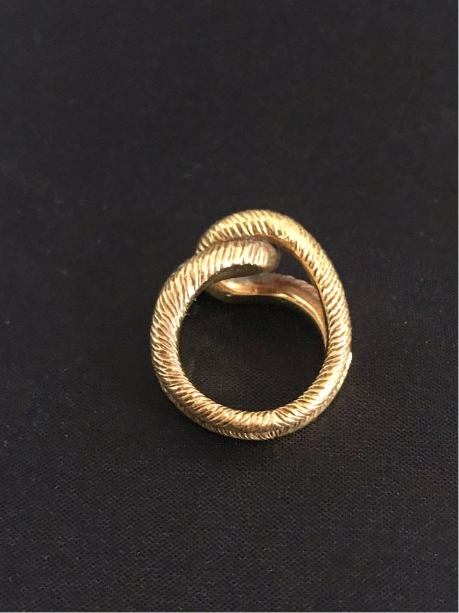 希少 美品 Cartier カルティエ リング K18YG イエローゴールド 指輪 レディース ヴィンテージ オールド アンティーク コレクション 7号_画像5