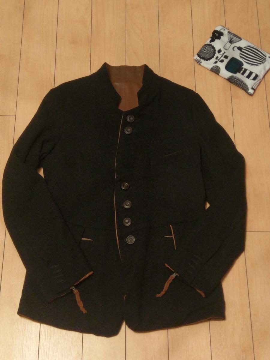 送料無料 レア 定価182,520円 soloist poker face jacket XS ソロイスト ポーカーフェイスジャケット ナンバーナイン レザー リバーシブル_画像2