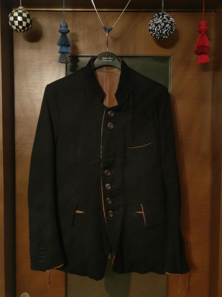 送料無料 レア 定価182,520円 soloist poker face jacket XS ソロイスト ポーカーフェイスジャケット ナンバーナイン レザー リバーシブル_画像10