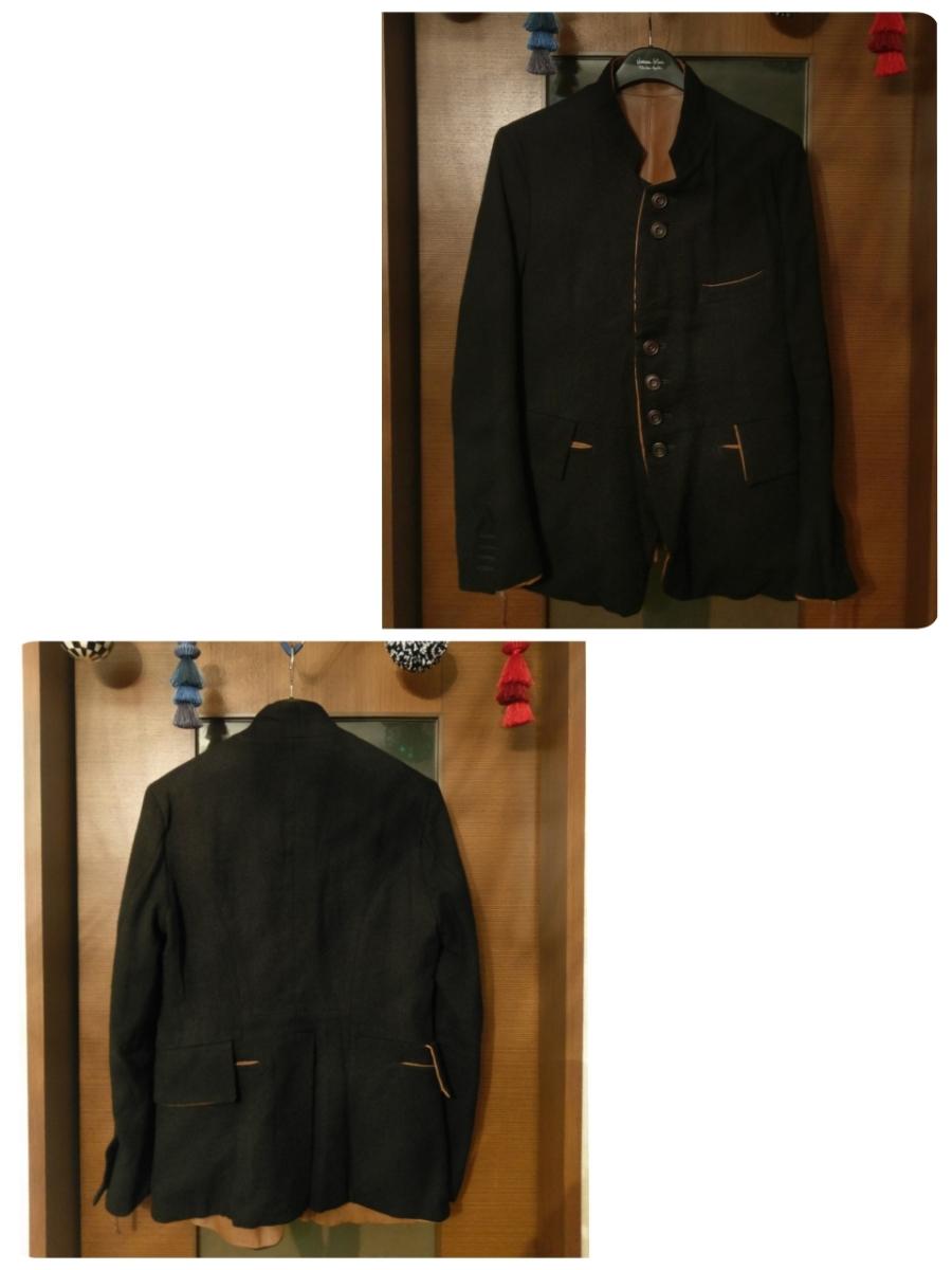 送料無料 レア 定価182,520円 soloist poker face jacket XS ソロイスト ポーカーフェイスジャケット ナンバーナイン レザー リバーシブル_画像3