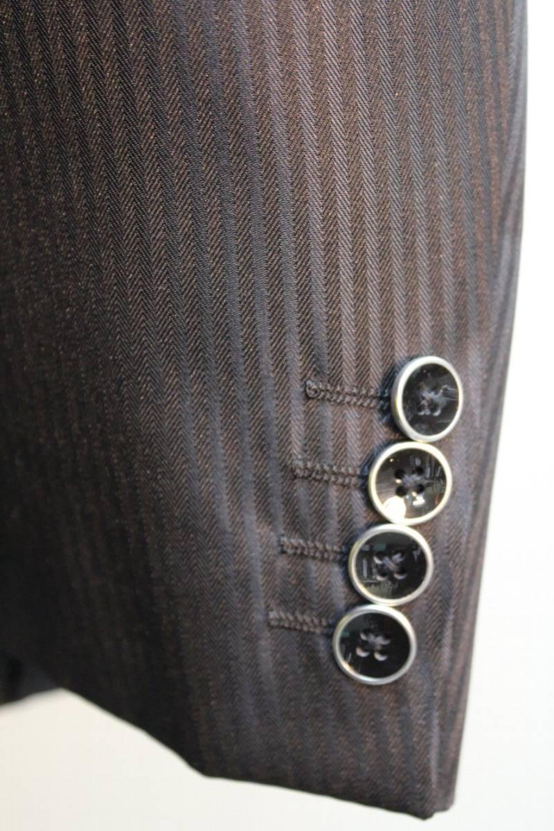 【激安】新品【緊急値下■ラスト1着■現品限り■AB(2L)サイズ(ウエスト89cm) 黒色×影柄スーツ】裾上テープ付き【定価42984円】_画像5