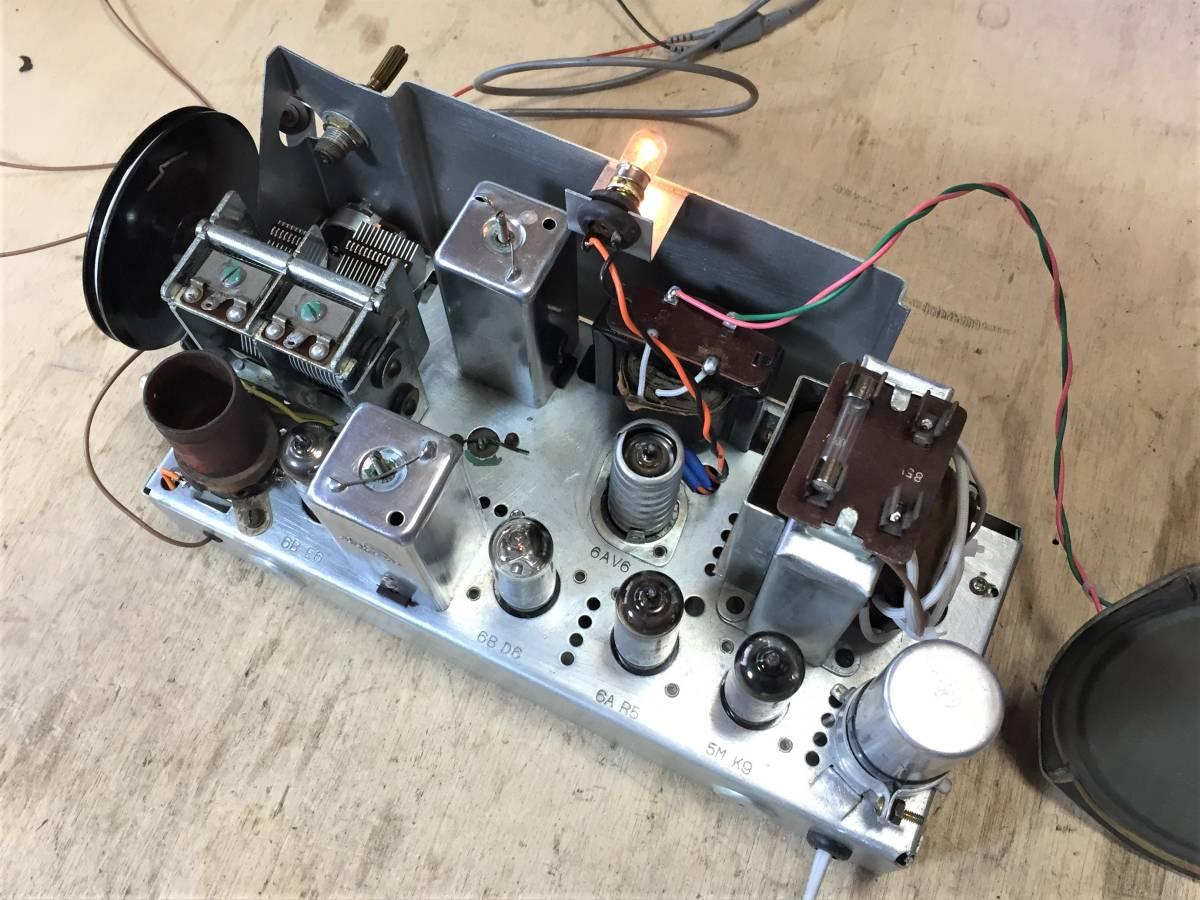 昭和の思い出 ゼネラル真空管ラジオ 5球スーパー 5S-40 整備品 その3_画像7
