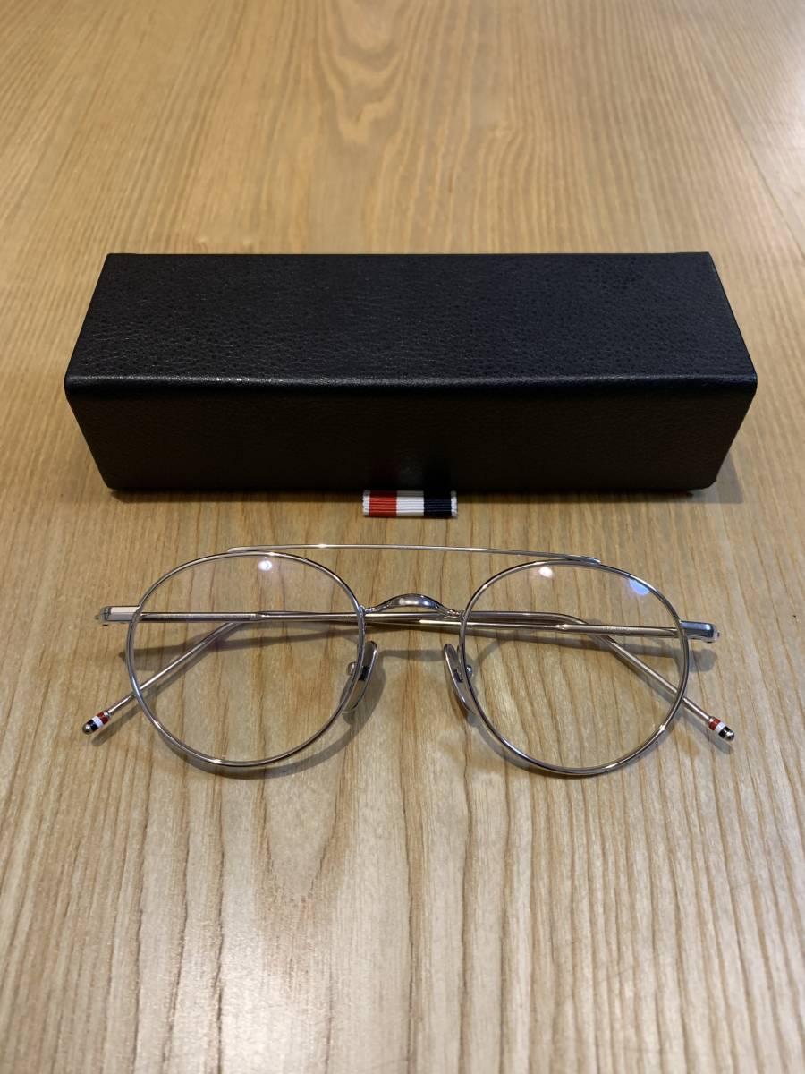 a2e57abd69b regular goods THOM BROWNE NEW YORK Tom Brown round frame 49.22 150 TB-101-A  SLV 49 glasses sunglasses