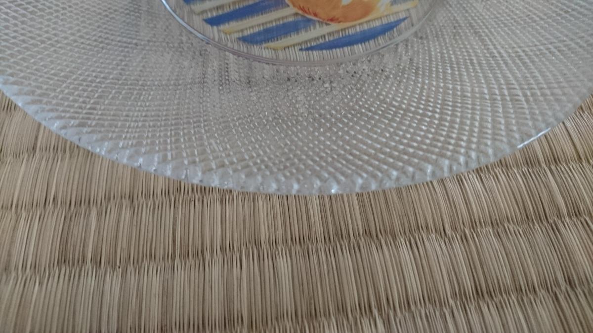昭和レトロ フルーツ柄 ガラス皿 ケーキ皿 プレート 食器 洋食器 未使用 美品_画像2