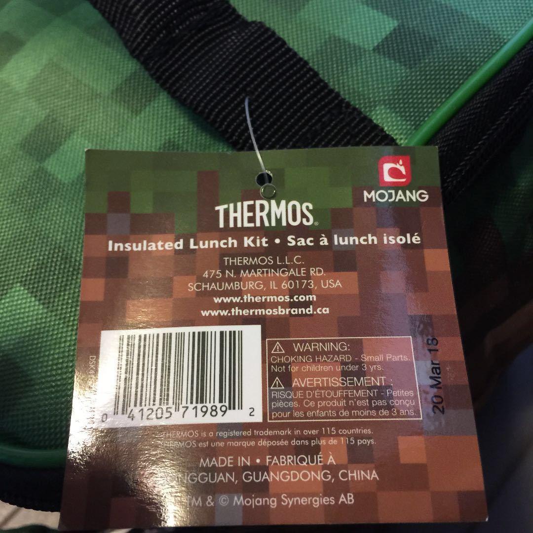 【新品 未使用】 USA 海外 マインクラフト サーモス 保温 保冷 バッグ_画像3