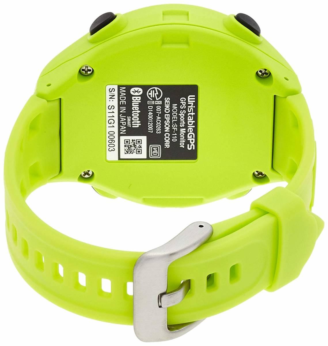★最終値下げ&送料無料★EPSON Wristable GPS 腕時計 GPS機能付 SF-110G お安く即決!_画像4