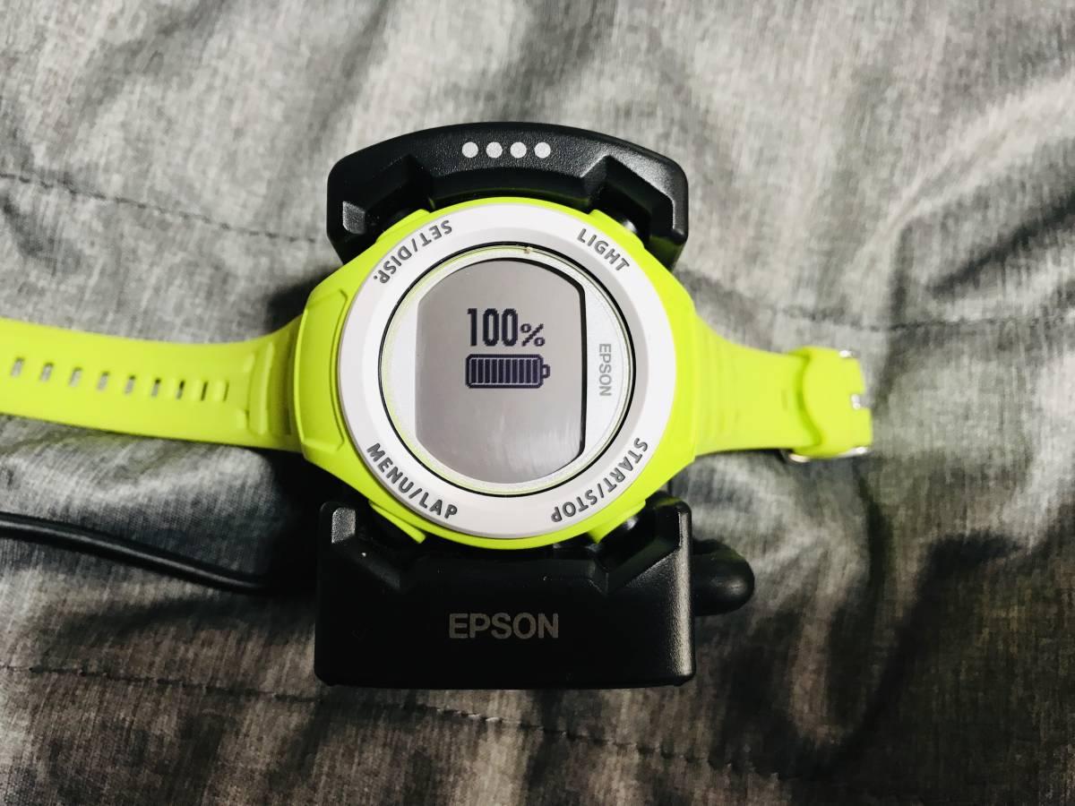 ★最終値下げ&送料無料★EPSON Wristable GPS 腕時計 GPS機能付 SF-110G お安く即決!_画像2