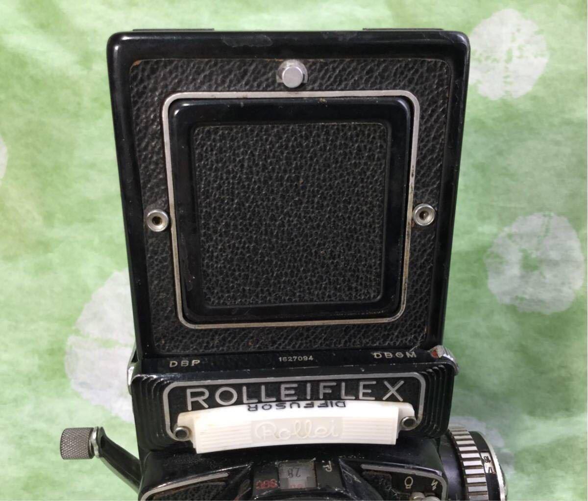 ① ■ ROLLEI FLEX ローライフレックス 2眼レフ schneider kreuznach シュナイダー・クロイツナッハ 1:2.8/80 //ニコン ライカ カメラ収集_画像7