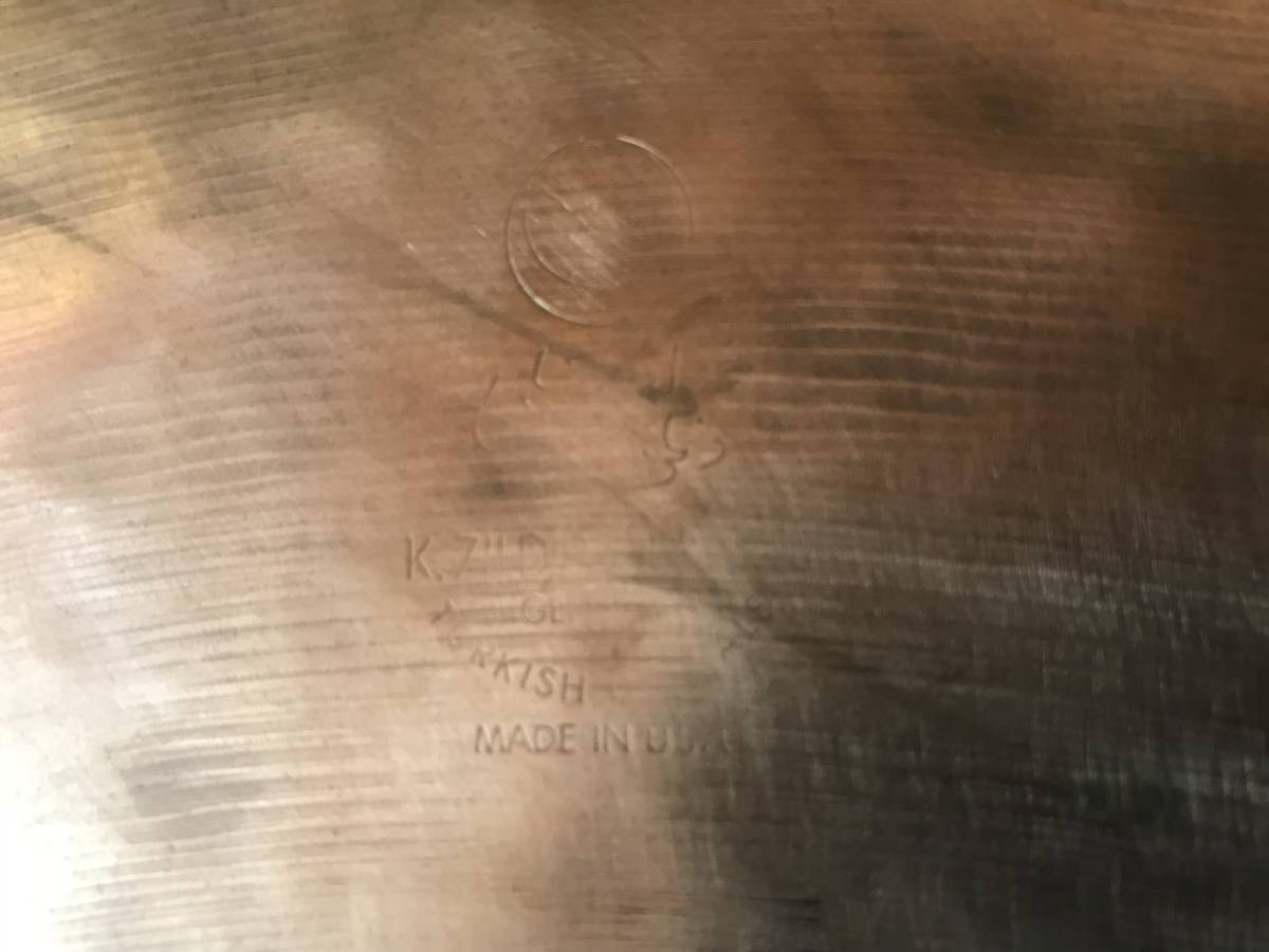 """K Zildjian 22 """"EAK 裏K _画像6"""